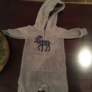 Carters moose fleece long sleeved onesie